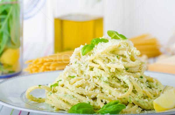 Macaroni with pesto Stock photo © Peteer