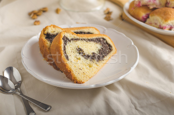Stock photo: Poppy seeds cake and stuffed buns