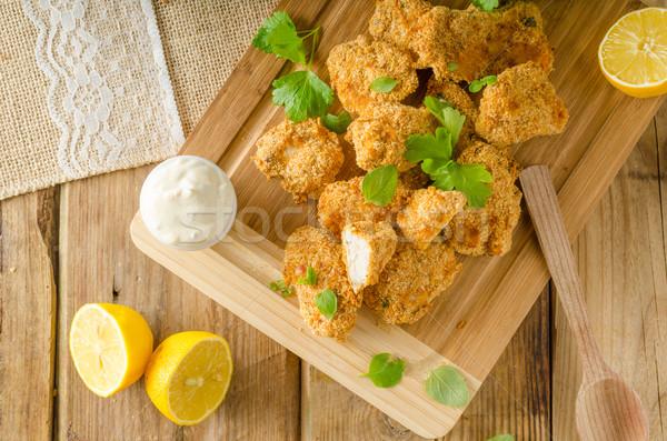 Сток-фото: куриные · попкорн · чеснока · два · домашний