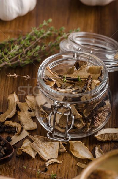 ストックフォト: 素朴な · キノコ · スープ · チェコ語 · 森林 · 新鮮な