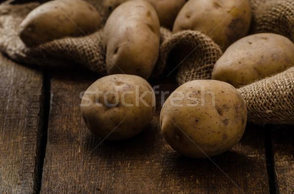 Raw potatoes Stock photo © Peteer