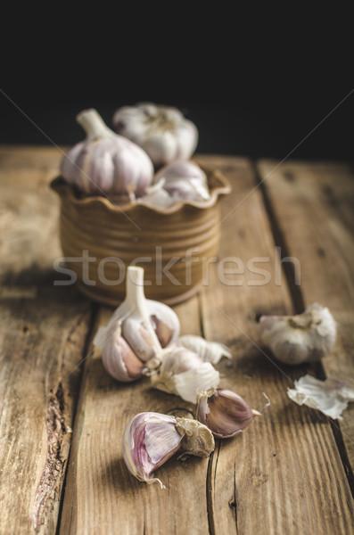 Homemade bio garlic Stock photo © Peteer