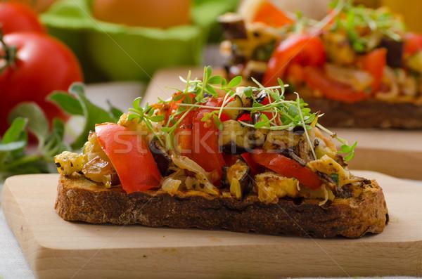 Comer limpio vegetariano brindis vegetales saludable Foto stock © Peteer