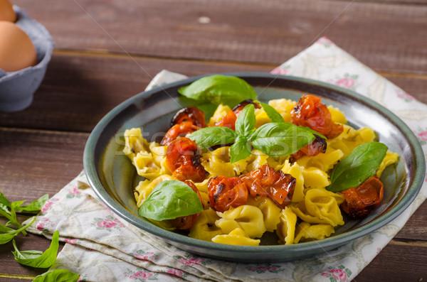 Foto d'archivio: Tortellini · vegetali · erbe · fatto · in · casa · pasta