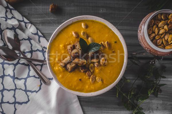 Citrouille soupe organique alimentaire photographie Photo stock © Peteer
