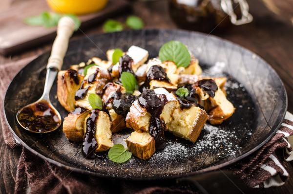 Naleśniki deser żywności fotografii czas Zdjęcia stock © Peteer