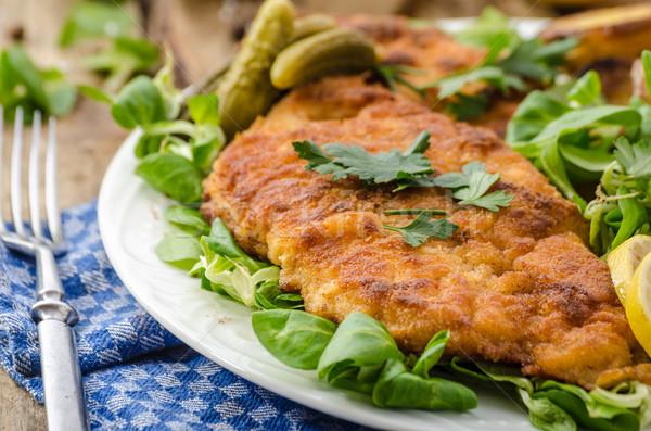 Wiener Schnitzel, delicious schnitzel Stock photo © Peteer