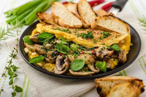 Setas lechuga hierbas chile francés alimentos Foto stock © Peteer