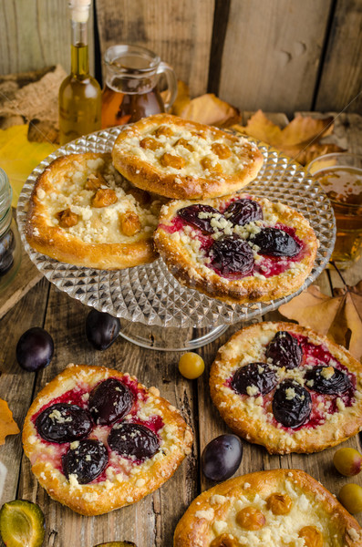 Traditional Czech cake with plums and prunes Stock photo © Peteer