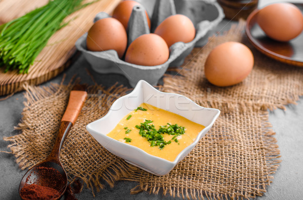 Sauce produit photo prêt oeuf fond Photo stock © Peteer