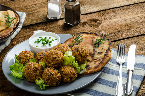 Health crunchy falafel Stock photo © Peteer