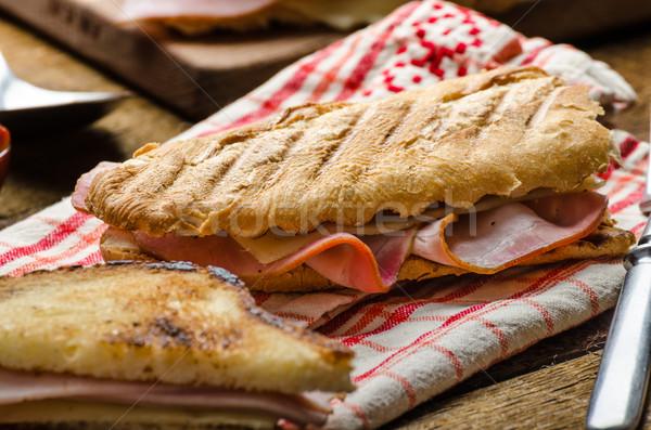 クイック ディナー トースト ハム チーズ パーニニ ストックフォト © Peteer