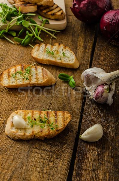 Fokhagyma pirítós pirított panini merő organikus Stock fotó © Peteer