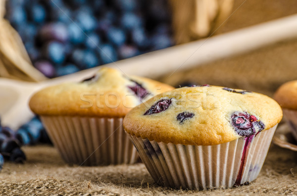 Blueberry muffins Stock photo © Peteer