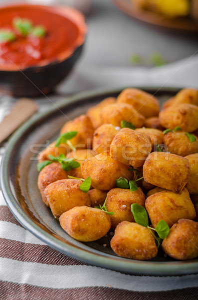 Homemade fried mini croquettes Stock photo © Peteer