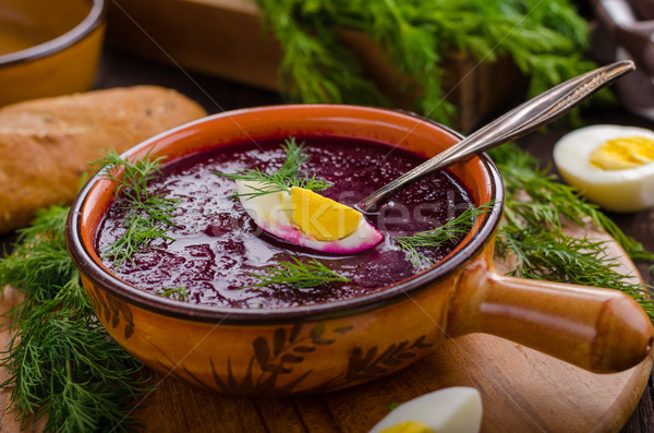 суп сыра травы продовольствие фотографии холодно Сток-фото © Peteer