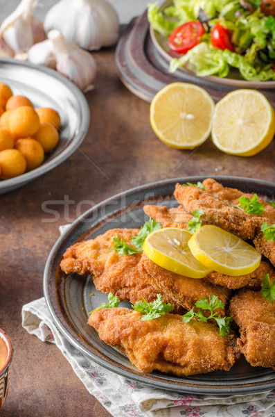 Homemade Breaded German Weiner  Stock photo © Peteer