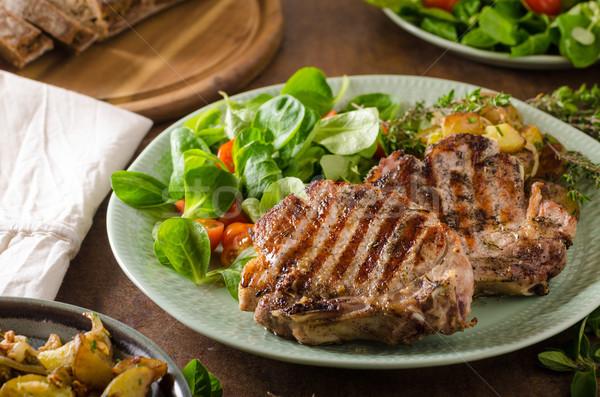 Grilled pork chops Stock photo © Peteer