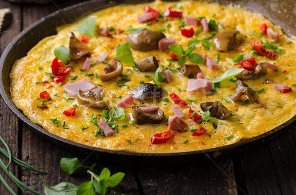 Vers augurken champignons chili kruiden top Stockfoto © Peteer