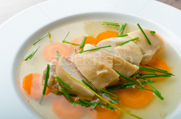 Chicken broth with fresh vegetables Stock photo © Peteer