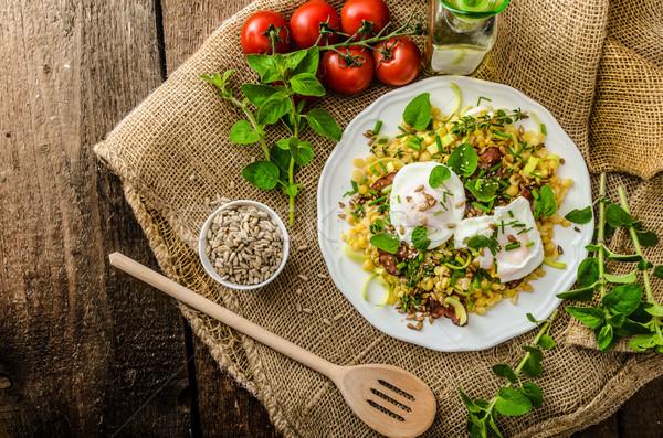 весны Салат яйцо свежие травы Сток-фото © Peteer