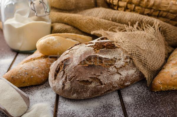 свежие фермер деревенский стиль хлеб Сток-фото © Peteer