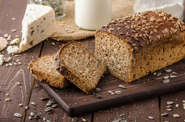 Whole wheat bread baked at home Stock photo © Peteer