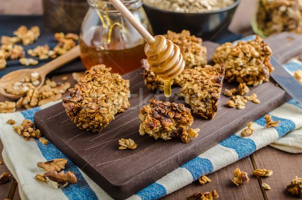 гранола орехи меда внутренний Сток-фото © Peteer