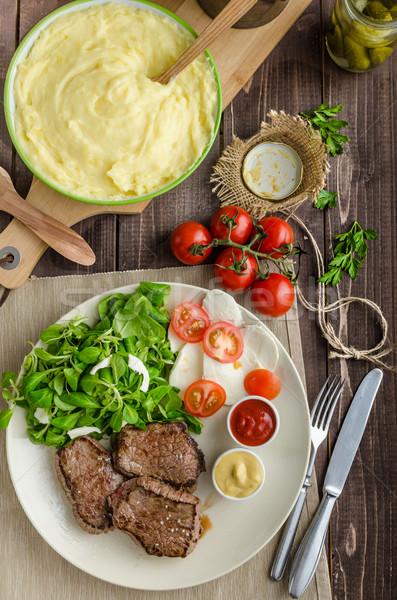 Salata mozzarella domates iki Stok fotoğraf © Peteer