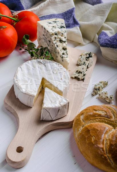 グルメ カマンベール ブルーチーズ まな板 自家製 ストックフォト © Peteer