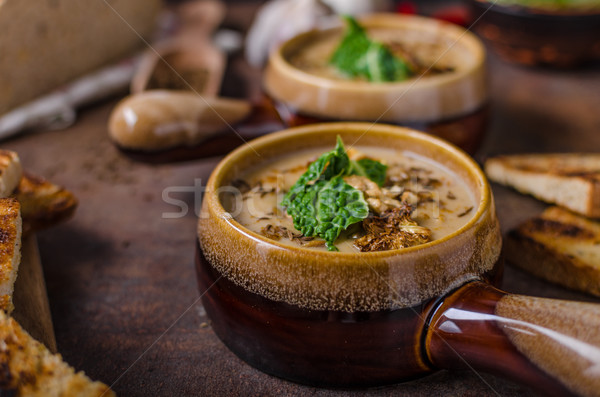 Kremsi çorba karnabahar lahana lezzetli Stok fotoğraf © Peteer