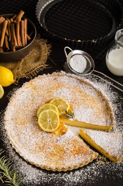 Crostata dessert luogo testo alimentare Foto d'archivio © Peteer