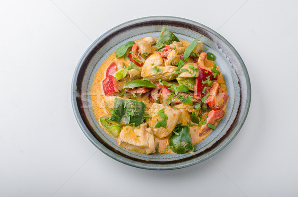Curry chicken vegetable fresh food Stock photo © Peteer