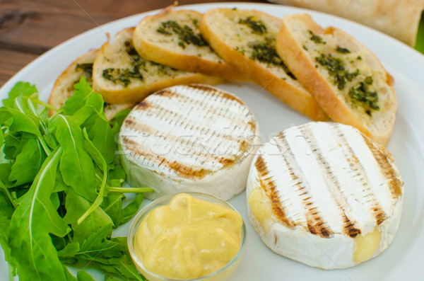 Grilled camembert with baguette Stock photo © Peteer