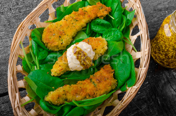 Chicken goujons Stock photo © Peteer