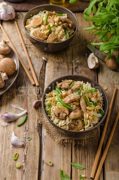 китайский коричневый грибы простой Сток-фото © Peteer
