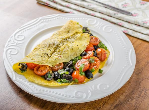 Mediterranean omelette Stock photo © Peteer