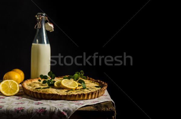 Limone torta rosmarino colazione torta Foto d'archivio © Peteer