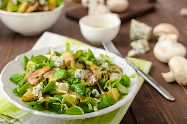 新鮮な サラダ 野菜 ブルーチーズ ストックフォト © Peteer