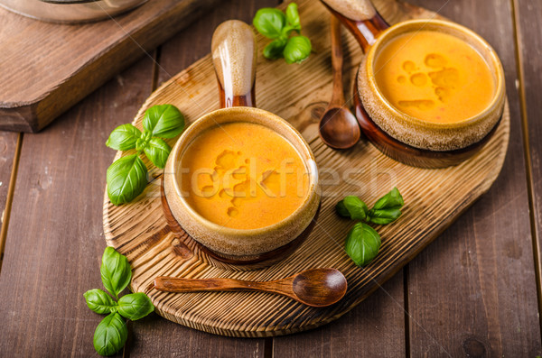 Vegetable tomato soup delish Stock photo © Peteer