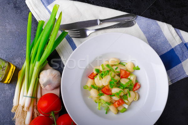 Сток-фото: вегетарианский · помидоров · травы · оливкового · масла · чеснока
