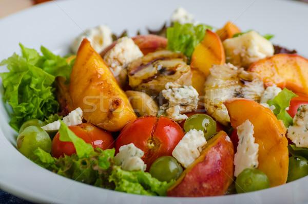 焼き フルーツ ブルーチーズ サラダ 自家製 ケチャップ ストックフォト © Peteer