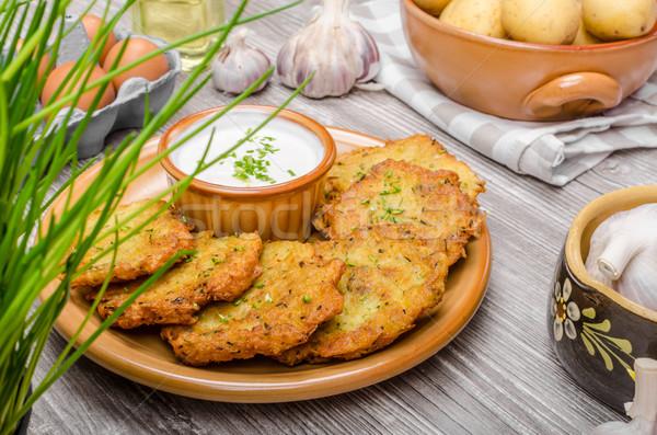Сток-фото: картофеля · сыра · чеснока · кислый · обеда