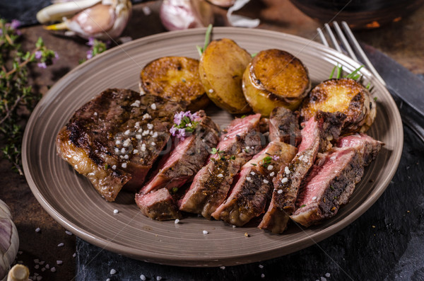 Rib eye steak Stock photo © Peteer
