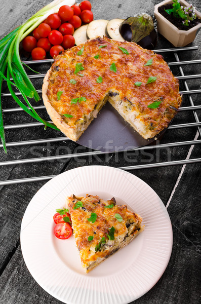 French Quiche vegetarian Stock photo © Peteer