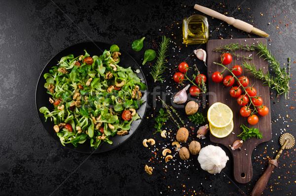 Lamb's lettuce salad Stock photo © Peteer