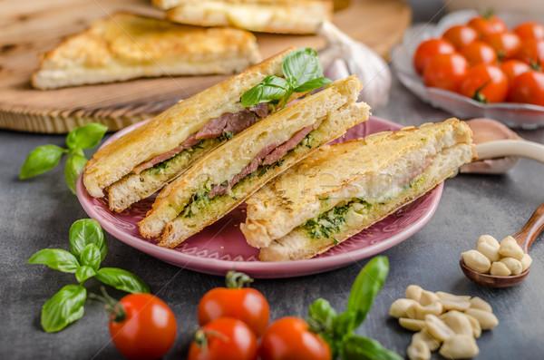 сыра сэндвич быстро еды зеленый Сток-фото © Peteer