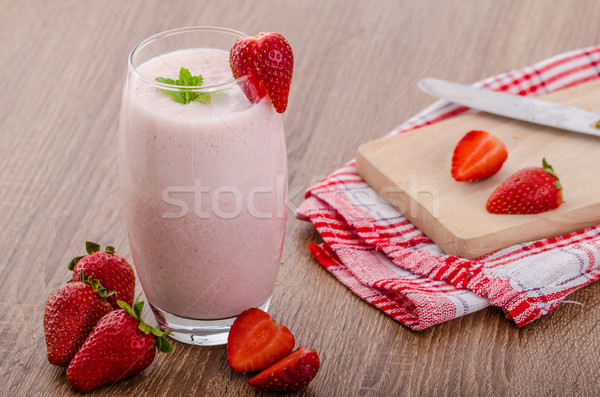 Strawberry smoothie Stock photo © Peteer