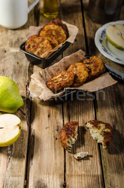 梨 ブルーチーズ パンケーキ 食品 木材 ストックフォト © Peteer