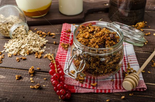Nacional granola comer limpio nueces Foto stock © Peteer